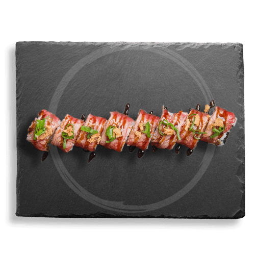 Foto Flamed beef roll